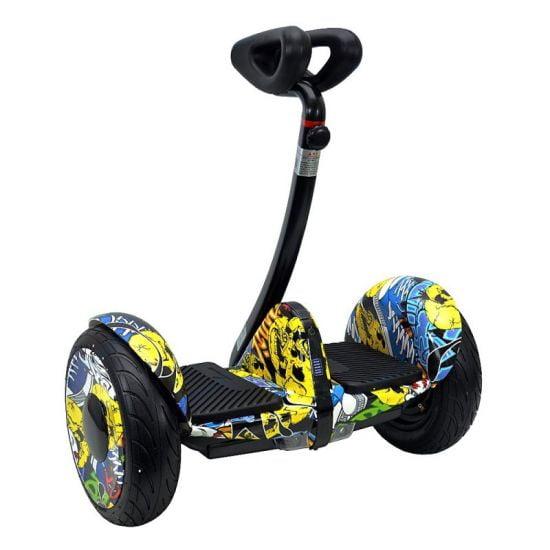 Гироскутер мини-сигвей Smart Balance Mini Robot 36V Граффити Желтый