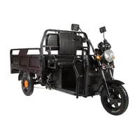 Электротрицикл Eltreco D4 1200W грузовая электрическая тележка Black Черный