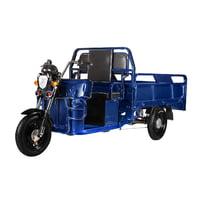 Электротрицикл Eltreco D4 1200W грузовая электрическая тележка Blue Синий
